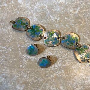 Vintage Matching Bracelet and Earrings Set